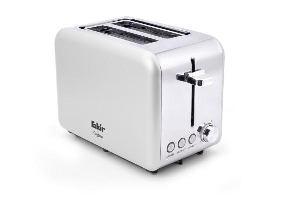 Fakir Calypso | Toaster für 2 Toast-Scheiben, weiß - 850 Watt