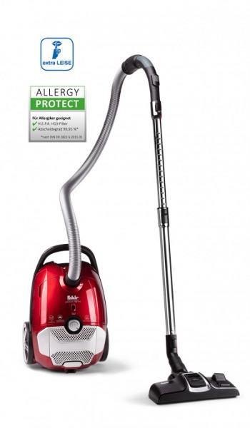Fakir premium TS 710 | Bodenstaubsauger, rubinrot metallic/schwarz - 700 Watt