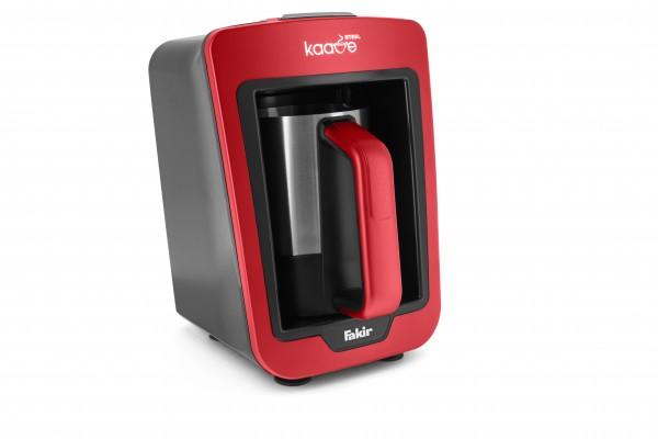 Fakir Kaave Steel | Mokkamaschine, rot - 735 Watt