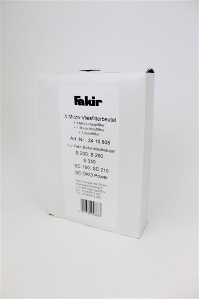 1 Packung = 5 Stück Micro-Vliesfilter für premium   S 250, premium   S 200