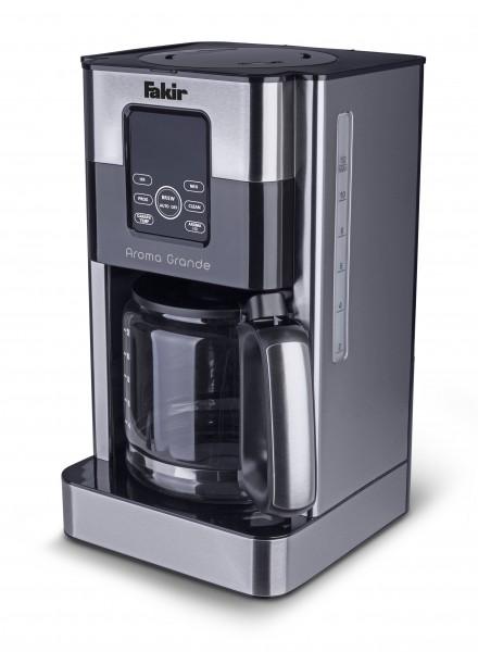 Fakir Aroma Grande | Filter-Kaffeemaschine mit Glaskanne, silber/Edelstahl, 1.000 Watt