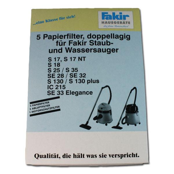 Papier-Staubsaugerbeutel und Motorschutzfilter für premium | SR 9800 S