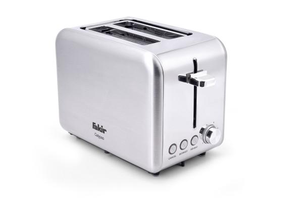 Fakir Calypso | Toaster für 2 Toast-Scheiben, silber/Edelstahl - 850 Watt